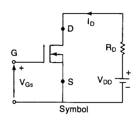 N channel depletion mode MOSFET symbol