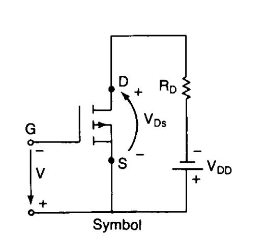 P channel depletion mode mosfet symbol