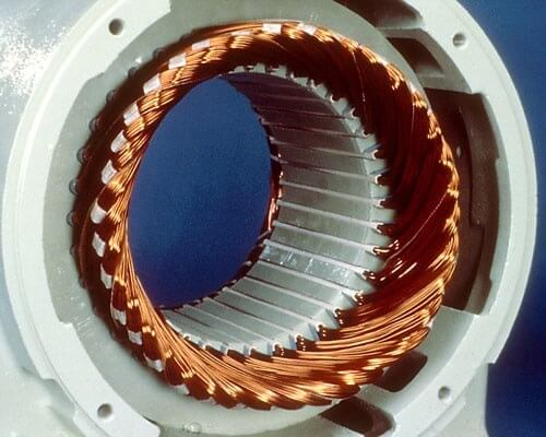 Squirrel cage induction motor stator