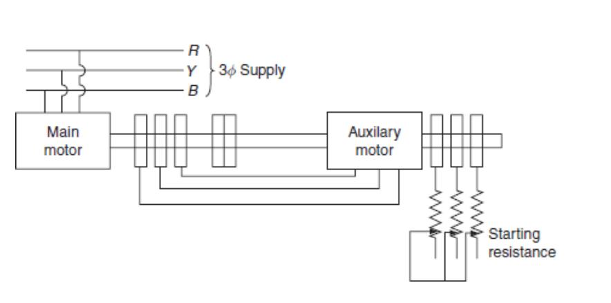 cascade connection of motor