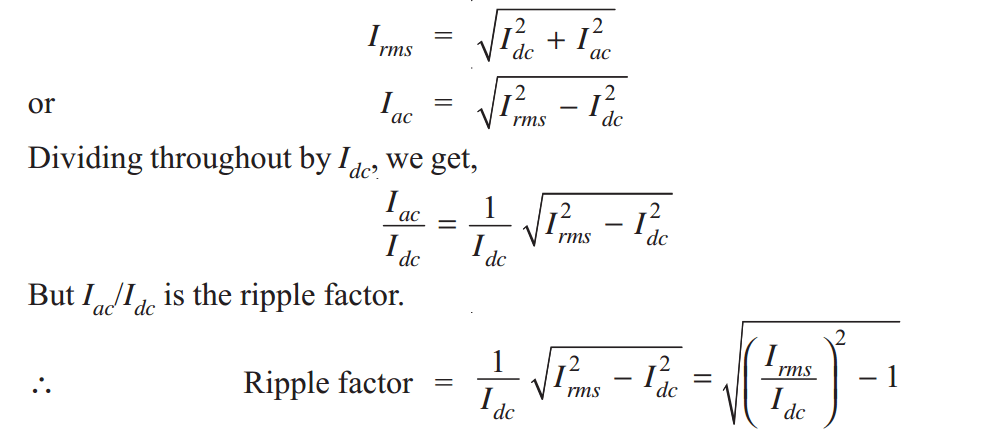 ripple factor derivation