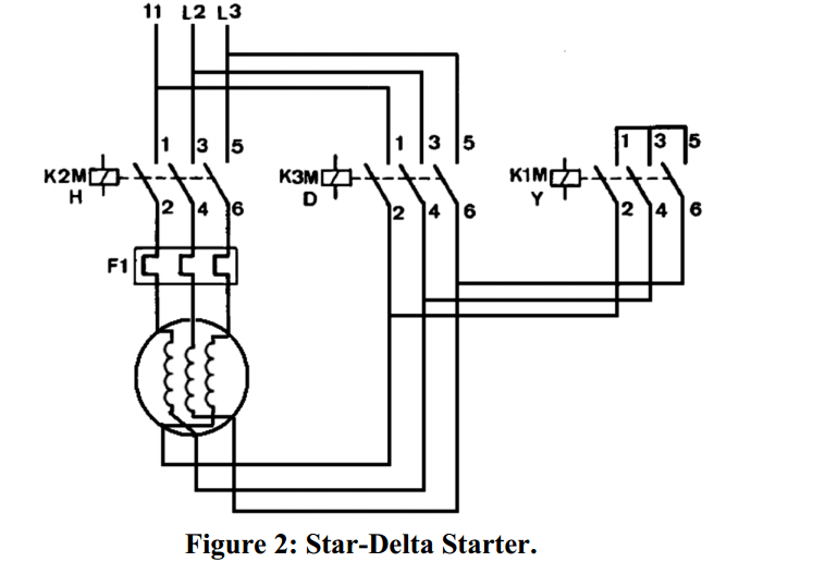 starting of induction motor by star delta